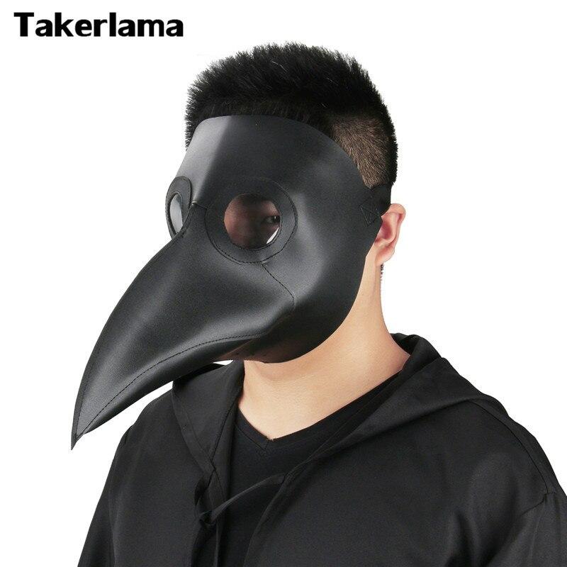 Takerlama Cospaly Dr. Beulenpest Steampunk Pest Arzt Maske Kunstleder Vogelschnabel Masken Halloween Art Cosplay Carnaval Requisiten