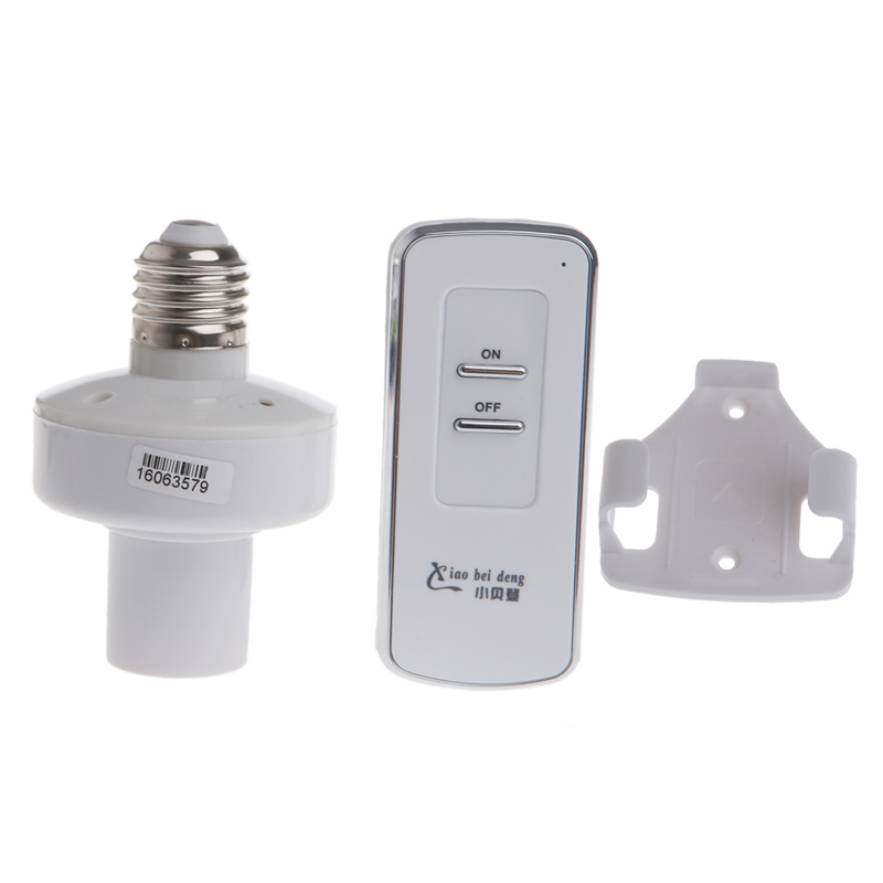 Remote Control E27 Screw Light Lamp Bulb Holder Cap Socket Switch Wireless