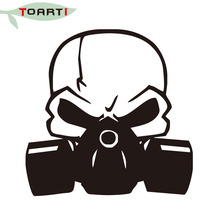 Skull Gas Mask Vinyl Decal Car Sticker High Quality Diy Window Bumper Laptop Zombie Walking Dead Car Accessories Decals high quality for street fighter q cartoon diy car sticker and decals cool modified accessories