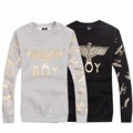 BOYLONDON Men Hoodies Black Gray Personality Design Winter Autumn Fleece Sweatshirt High Quality Pullover Plus Size XXXL