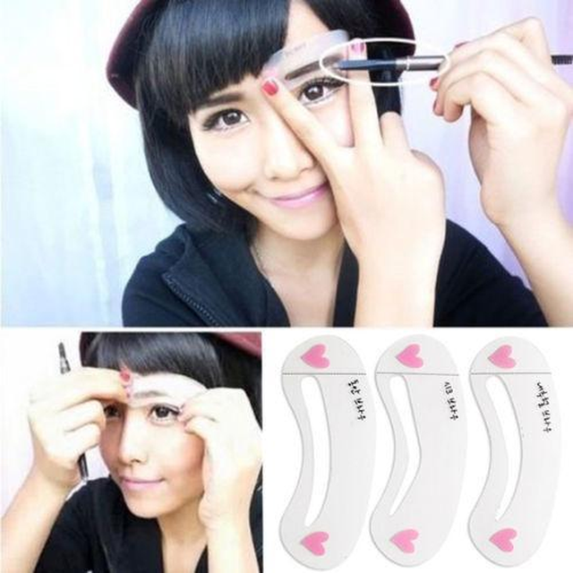 3 Styles/set Grooming Stencil Kit Shaping DIY Beauty Eyebrow Template Make Up Tool Hot Sale 1