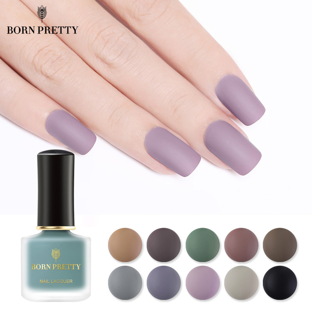 BORN PRETTY 6ml Matte Nail Polish Manicure Painting Nail Art Lacquer ...