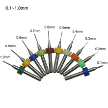 10pcs PCB drill tool kit 0.1mm-2.0mm metal Milling cutter cnc tools for Woodworking machine Parts