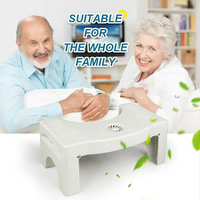 Folding Multi Function Toilet Stool Portable Step for Home Bathroom Silicone pad on feet for stability and comfort H99F