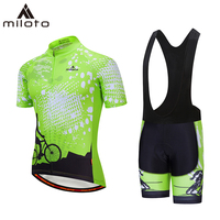 MILOTO short cycling jersey sets breathable racing bike cloth Ropa Ciclismo maillot Riding popular polyester cycling jersey suit