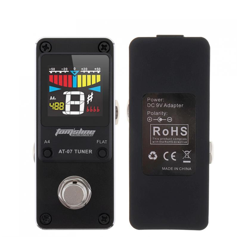 Sale Mini Guitar Tuner Effect Pedal High Sensitivity Guitar Stompbox Tuner with HD Display