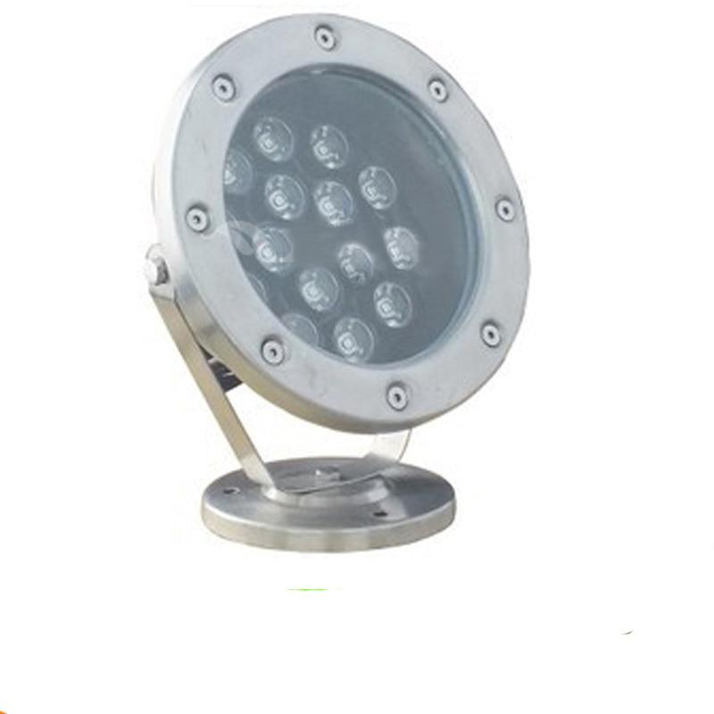 ФОТО 5pcs/lot 15W 18w 24w 36w  LED Underwater Light 12 Volt 24V Stainless Steel IP68 LED Swimming Pool Landscape Fountain Lighting