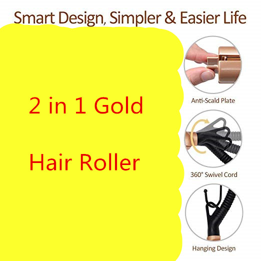 2 in 1 Pro Ceramic Corn Roller Magic Hair Curler hair wand Hair Straightener Style Straightening Flat Iron Hair Styling Tools