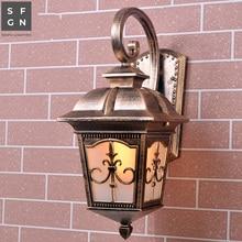 led outdoor lighting  Europe type wall light outside light with led balcony light Aluminum E27 lamp