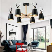 Nordic moderne minimalistischen geweih lampe schatten kronleuchter E27 led massivholz beleuchtung für küche wohnzimmer schlafzimmer studie hotel