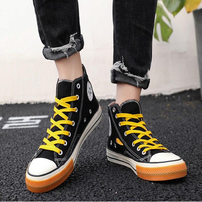 2019 latest style non-leather shoe Men  comfortable Casual Shoes Low Breathable Falt Canvas Shoes Students Style light male shoe 5