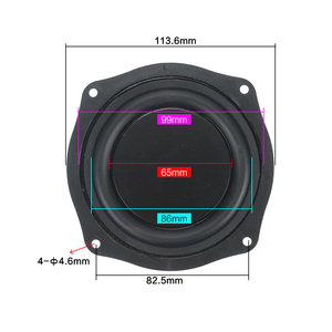 Image 2 - 4 Inch 113mm Frame Radiator Passive Plate Audio Bass Vibration Diaphragm 1Pairs