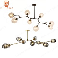 LED Nordic Modern Chandelier Lights Glass Ball Ceiling Lamps Luster Art Decoration Kitchen Garden Loft Dining Living Room(China)
