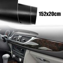 1pc car decoration Sticker brand new Black 20*152cm PVC plastic auto interior Trim Wrap Stickers decor accessories film