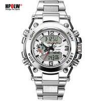 HPOLW Marke Military Sport Uhren Männer Elektronische LED Digital Armbanduhr Wasserdicht Sport Schlag Uhr Männer Relogio Masculino