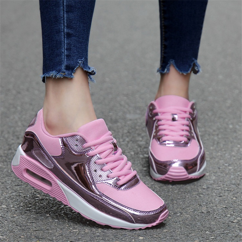 Women Air Cushion max Running Shoes Men Nonslip Sports Shoes Chaussures de course Couple Black Breathable Sneakers for women