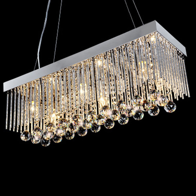 Modern Crystal Pendant Light Dining Room Light Fixtures Polish ...