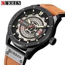 cb7eaae9fc05 Curren hombres reloj impermeable de los hombres relojes reloj de cuarzo  relojes para hombre marca de lujo reloj de cuero de depo.