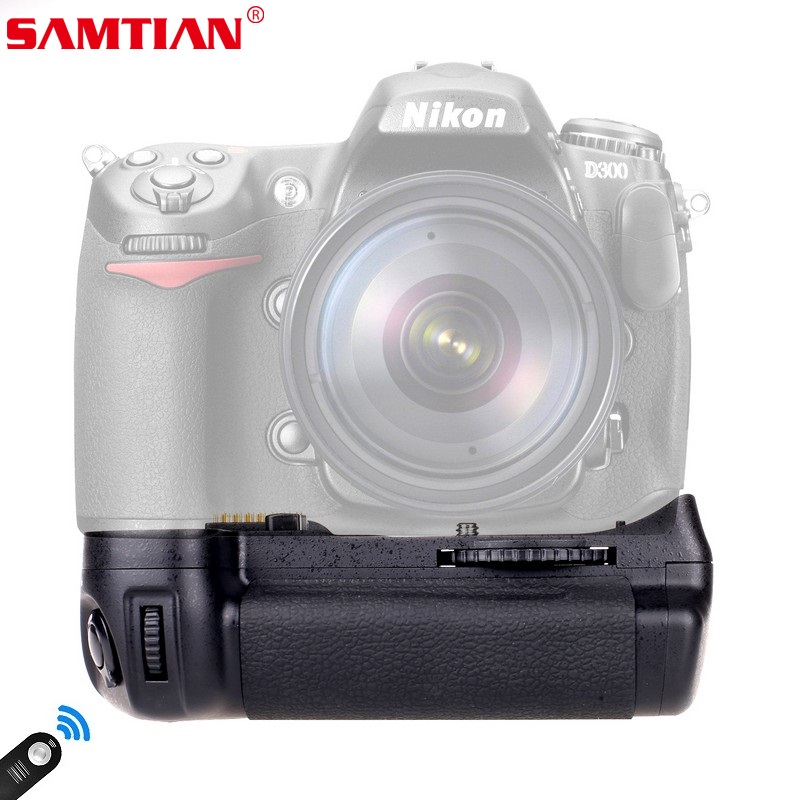 SAMTIAN Camera Battery Grip for Nikon D300 D300S D700 DSLR Cameras Replace MB-D10 Work With EN-EL3E Battery Gfit Remote Control meike mk d300 mb d10 bg d300s battery grip for nikon d700 d300 d300s