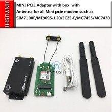 מארז עבור LTE מודול + אנטנה + USB + מיני PCIE מתאם עבור כל מיני pcie מודם כגון EG25 G MC7455 EP06 E EP06 A וכו
