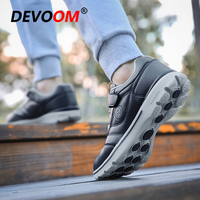 Autumn Men Casual Shoes Slip on AntiSkid Equalizer Creepers Loafers 2018 New Winter Leather Sneakers Men Adulto Footwear Solid