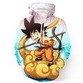Goku Garoto bonito Das Mulheres Dos Homens 3D Hoodies Pullovers Moda Anime Dragon Ball Z Impressões Bolso Outerwear Moletom Com Capuz Masculino Moletom Com Capuz