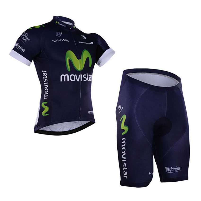 ФОТО 2016 New Breathable Team Movistar Cycling Set/Quick-Dry Brand Bike Cycling Clothing Sportswear/Breathable Racing Bicycle Wear