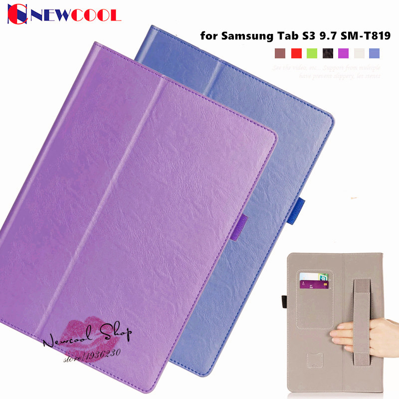 T825 T820 Magnetic Flip Cover for Samsung Tab S3 9.7 SM-T829 9.7 Tablet Case Smart Cover Protective shell +screen film