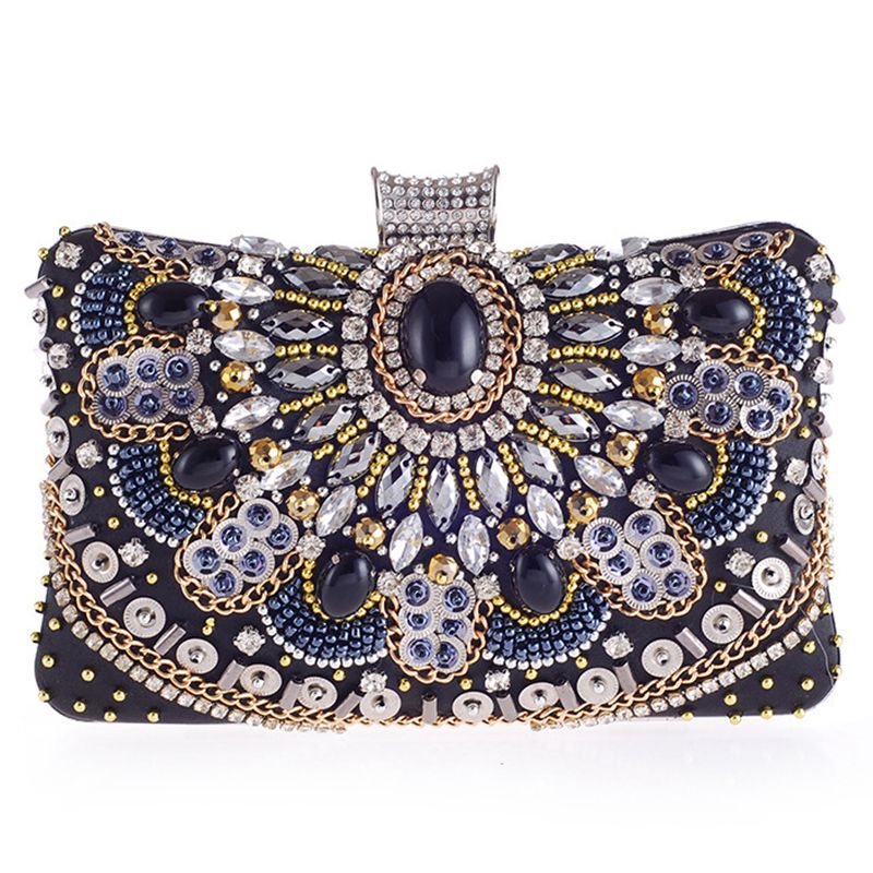 HEBA Hot Sale Women Evening Clutch Bag Ladies Diamond Crystal Day Clutches Purses Female Wedding Party Bridal Handbag With Cha