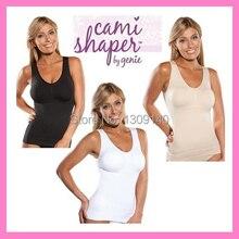 Cami Shaper Tank Top seamless Slimming Camisole Spandex black skin white color