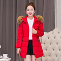 Nice Winter Jacket Women And Long Sections Cotton Padded Coat Casual Parkas For Women Artificial Collar  Women's Jacket
