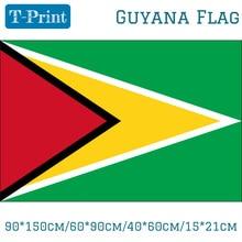 Free shipping 90*150cm/60*90cm/40*60cm/15*21cm Guyana  National Flag South America Banner Brass Metal Holes