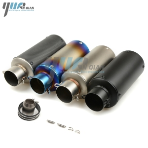 Image 2 - YUANQIAN Motorcycle exhaust pipe Modified Exhaust Muffler pipe for Kawasaki Z1000 Z800 Z750 2003 2004 2005 2006 2007 2008 2009