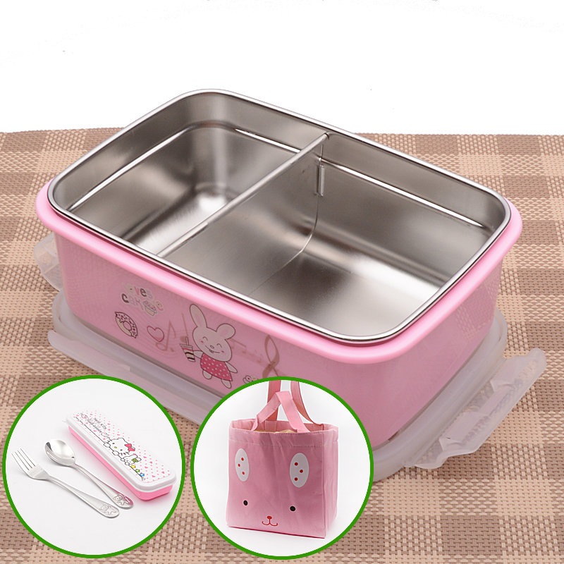 900ml Insulated Lunch Box Thermal Insulated Food Bowl Container Bento Pink