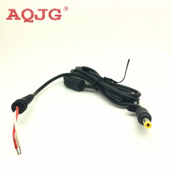 1pcs DC power Plug yellow 4.8* 1.7mm Connector With Cord For HP Hewlett Packard computer Laptop Cable 120cm image