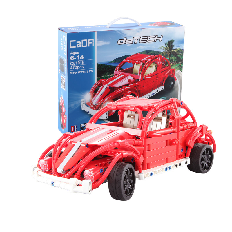 472pcs Technic Creator Expert Series Building Blocks Bricks Remote Control RC Car Beetle Model Toys For