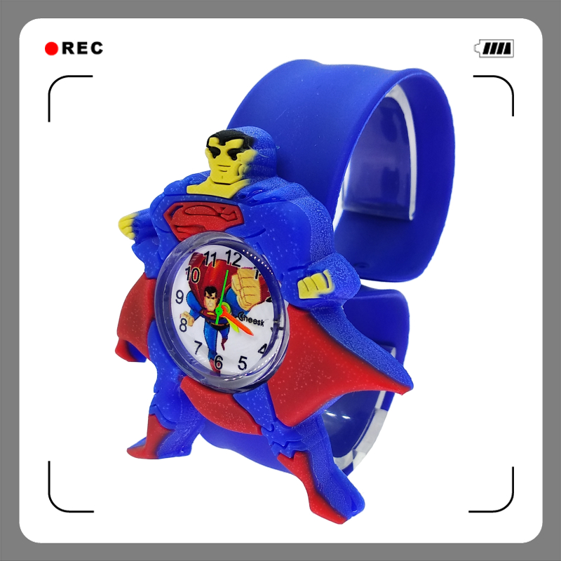 Cartoon Superman Children's Watches Casual Boys Sports Quartz Watches Kids Birthday Party Gifts Clock Relogio Montre Enfant Saat