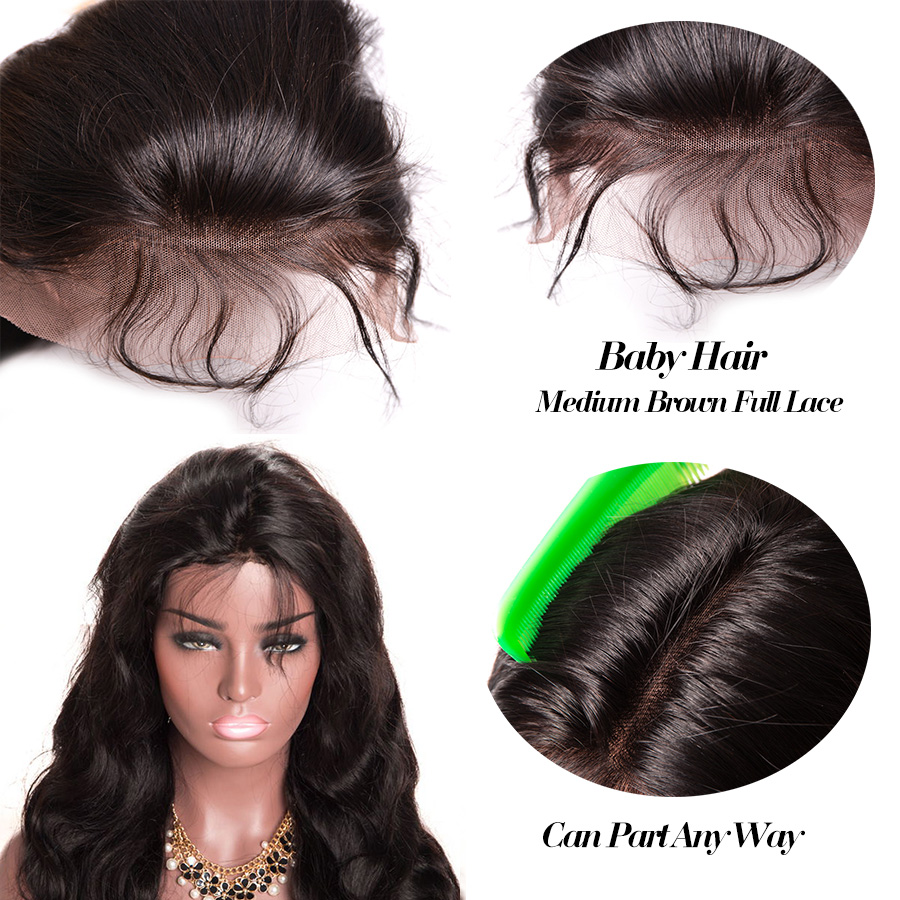 360 Lace Frontal Wig Pre Plucked With Baby Hair Body Wave Lace Front Human Hair Wigs For Women RXY Remy Black Lace Front Wigs (2)