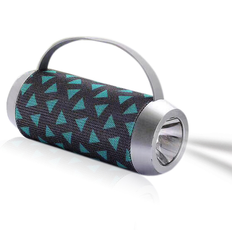 Outdoor bluetooth speaker portable wireless speaker with flashlight 5W*1 1200MHA V4.1 65-100KHZ 5 color choose playing 2 hour