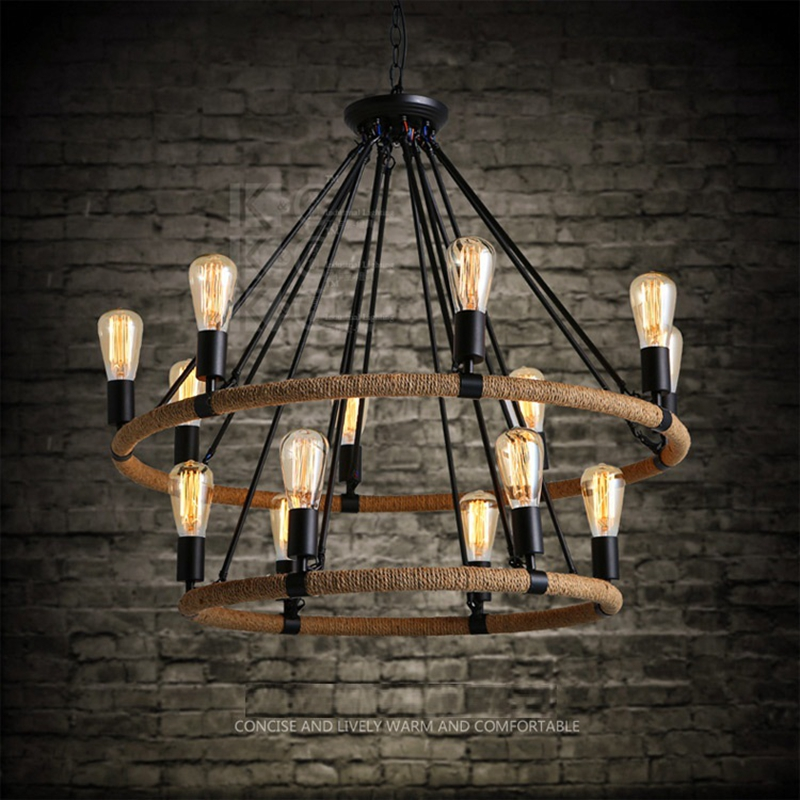Loft Retro 6/8/14 Light 31 Pendant Lighting Fixture Lamp Light for Hotel Foyer Living Room Decoration 220V~240V e27 luminaire