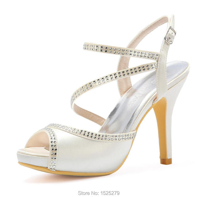 de5434e9dae2 Woman Sandals Summer HP1805I White ivory Peep Toe High Heel Platforms Party  Prom Dress Wedding Bridal Sandals Ladies bride