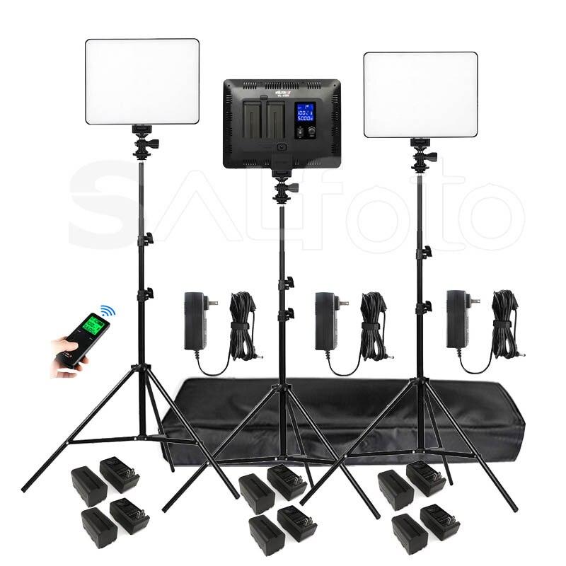 Viltrox VL 200T LED Video Light Panel 4400mAh Battery Stand Kit Bi color 3300 5600k VL