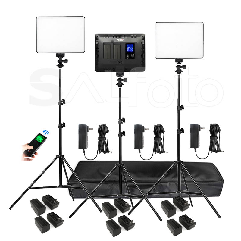 Viltrox VL 200T LED panneau lumineux vidéo + batterie 4400 mAh + Kit de support bicolore 3300 5600 k VL 200 ensemble d'éclairage de remplissage de Studio Photo-in Éclairage photographique from Electronique    1