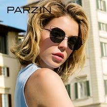 PARZIN Brand Top Grade Women Cat Eye Sunglasses Big Alloy Frame Polarized Sun Glasses Designer Glasses For Driver Accessories