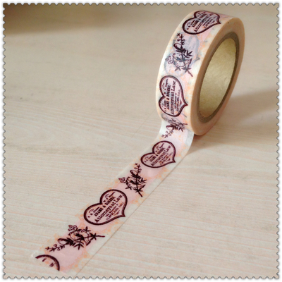 Beautiful 15mm*10m  High Quality  Washi Paper  Tape/hearts And  Birds  Masking  Japan  Washi Tape