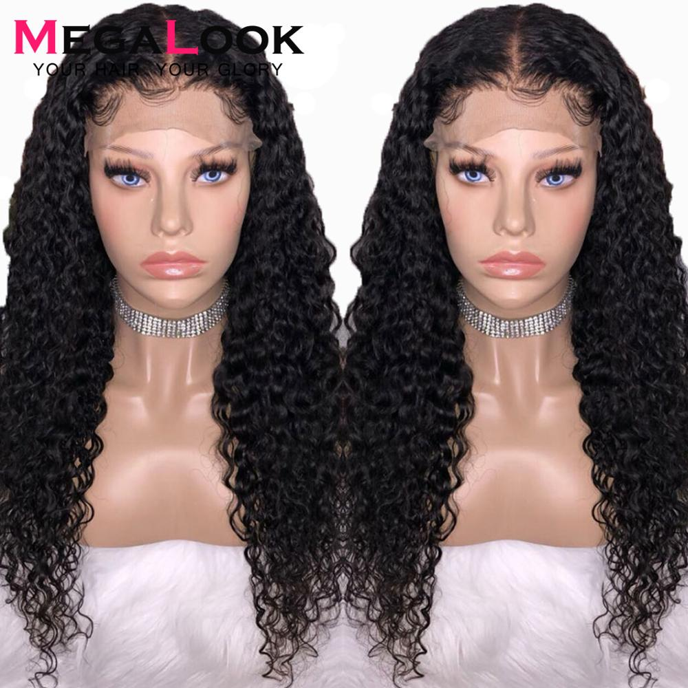 Deep Wave wig Lace Front Human Hair Wigs Brazilian Hair Remy Megalook 13 4180 210 12
