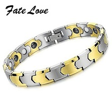 New Fashion Jewelry fashion jewelry tungsten bars and rods super magnetic <font><b>health</b></font> care tungsten bracelet ws935