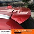 Черный спойлер для Mitsubishi Outlander 2013 по 2018  АБС-пластик  без краски  Праймер  задний багажник  спойлер  крыло  Стайлинг автомобиля