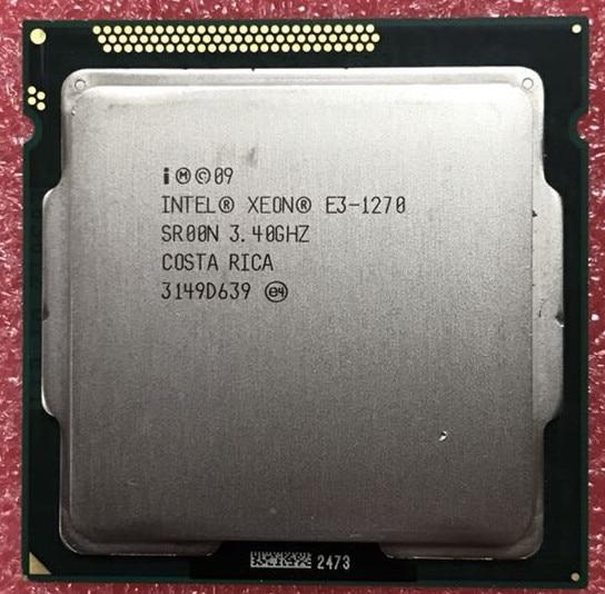 Intel Xeon e3-1270 CPU 3.40 ghz 8 m cache LGA1155 processeur d'ordinateur de bureau e3 1270