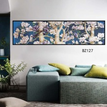 Modern Chinese ink painting style art, poster PVC self-stick decoration, frameless murals